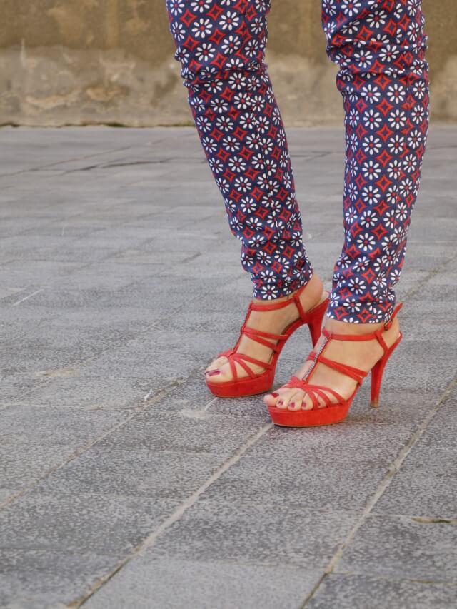 pantalon estampado riverside sandalias unisa