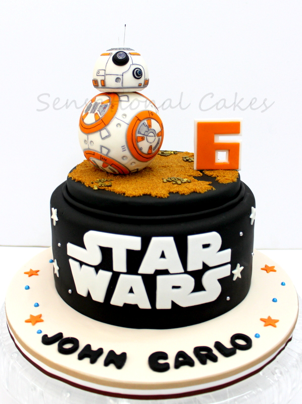 The Sensational Cakes Bb8 Figurine Handcrafted 3d Cake Singapore