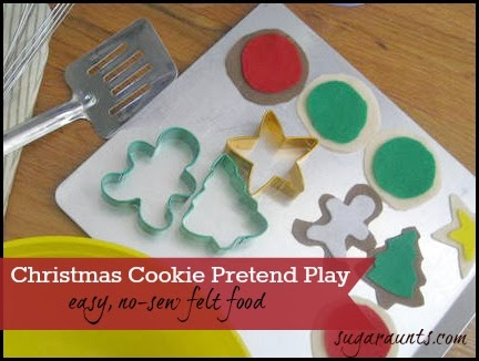 Christmas Cookie Pretend Play No Sew Felt Food. By Sugar Aunts