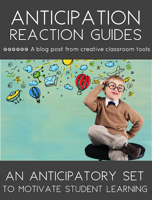 Anticipation-Reaction Guides are a great way to focus students' attention and activate prior knowledge! This opening activity is one of my favorite anticipatory sets because it can be used across the curriculum. Read on to learn more about the Anticipation Guide, see some examples, and grab a few free printables!