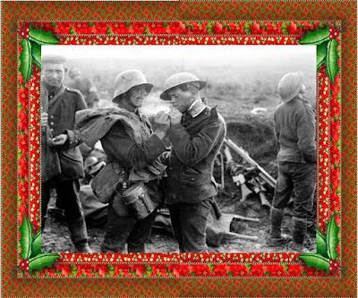 I soldati usciti dalle trincee fraternizzano con il nemico