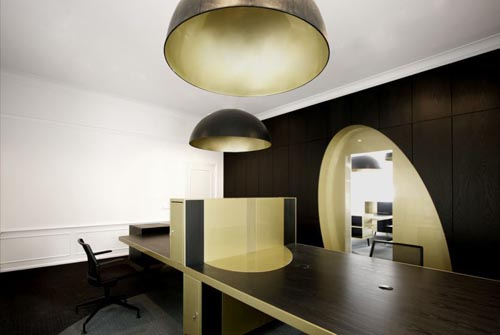 astonishing office interior design black gold   In Design Magz: EXCLUSIVE BLACK GOLD INTERIOR OFFICE DESIGN