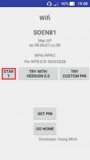 Proses pengerjaan wifi wpa wps tester