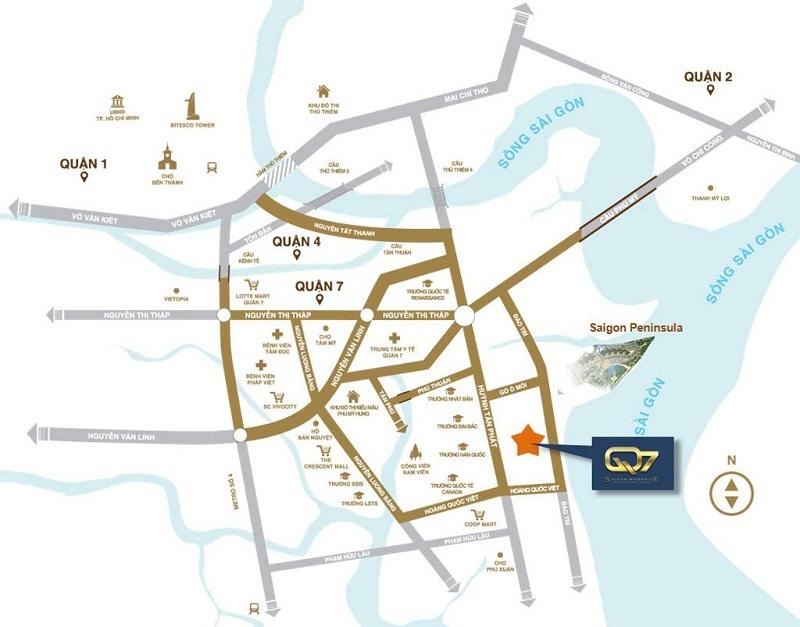 Sơ Đồ Căn Hộ Q7 Saigon Riverside Complex Đẳng Cấp Quận 7