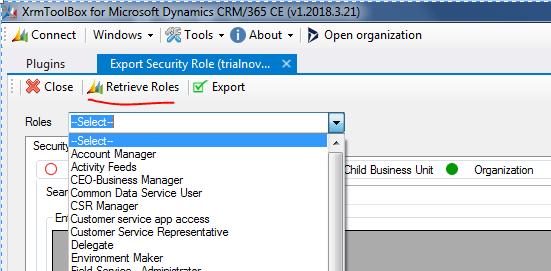 Dynamics CRM: Dynamics CRM : Export Security Role