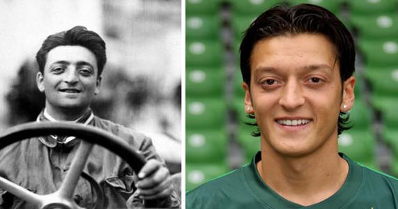 This Is Weird Mesut özil And Enzo Ferrari Look Like Twins