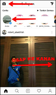 admin mendapati ikon Instagram muncul pada panel notifikasi hp admin Cara upload foto inginpun video lebih dari satu (kaya) di Instastory dengan Instagram versi terbaru