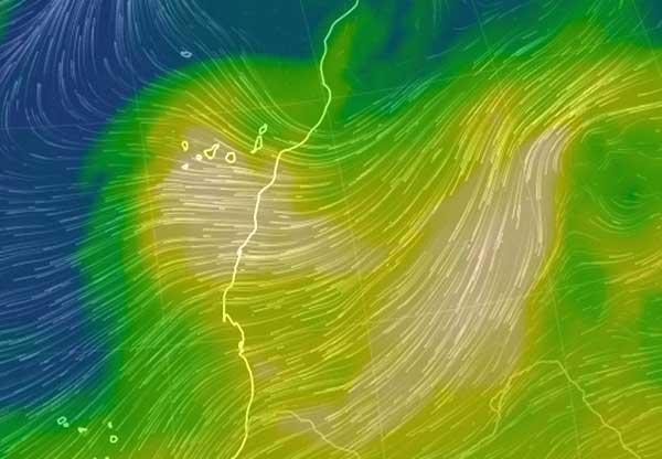 En diciembre se espera en Canarias calima fuerte, en altos niveles