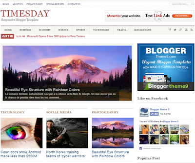 Times Day - SEO Responsive Blogger Template