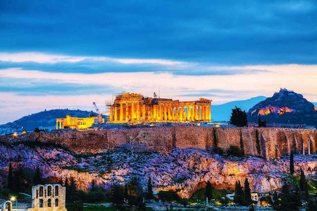 Lua de mel em Atenas, Grécia
