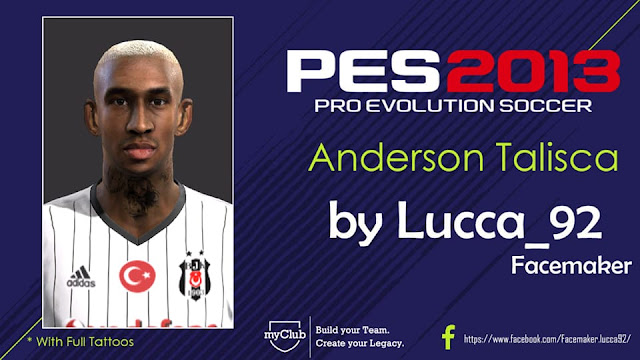 PES 2013 Anderson Talisca Face