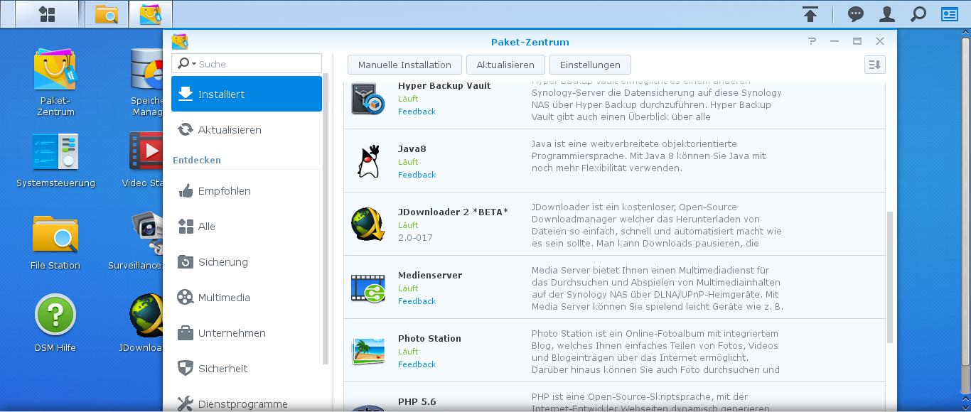 Me, Myself & Linux: JDownloader auf Synology NAS installieren
