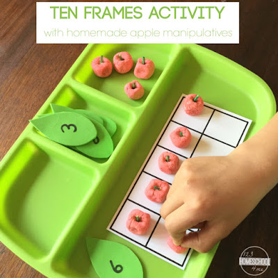 ten frames activity for prek