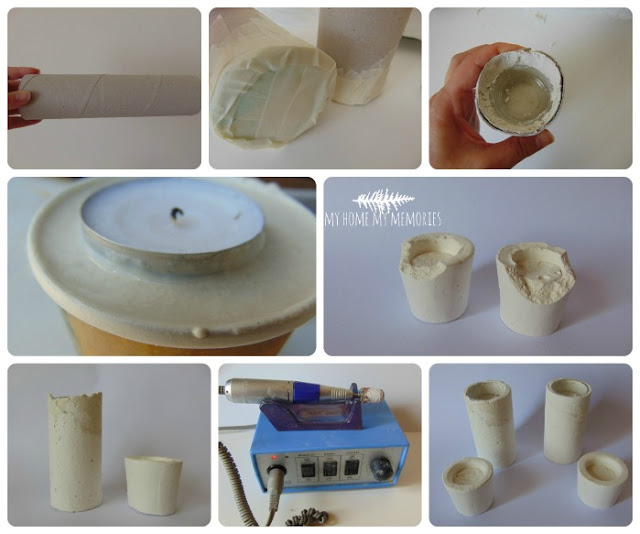 making-tealight-holders-from-plaster