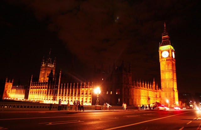 kvällspromenad i London