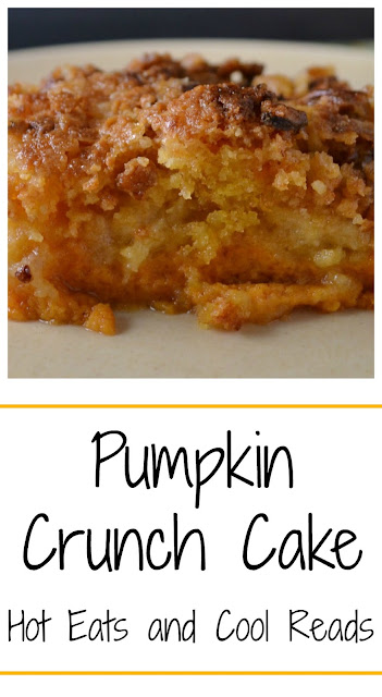 The only pumpkin dessert you ever need to make! SO heavenly! Pumpkin Crunch Cake from Hot Eats and Cool Reads