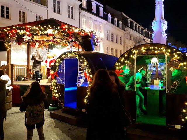 Saarbrücken Christmas market podium