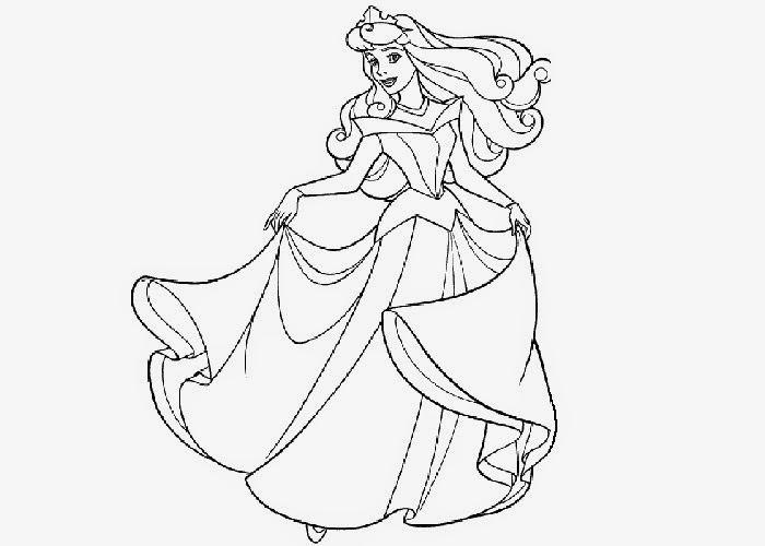 Coloring Pages: Princess Aurora free printable coloring pages