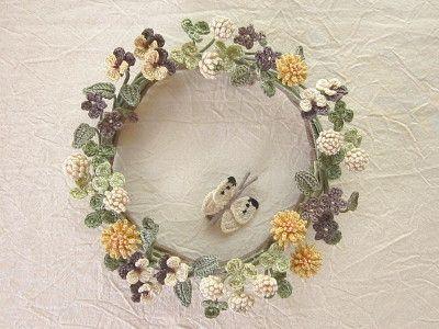 wzory mini kwiatków szydełkowych