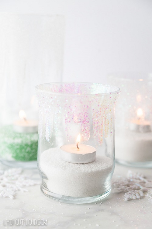 icicle diy candle holders