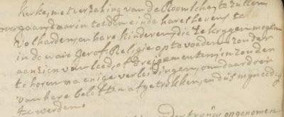 Ondertrouw van Koster van de Kroon en Anthonia de Hoog