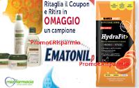 Logo Campioni omaggio  Aveeno, Ematonil Plus,Hydrafit Energy e Hydration : ritirali gratis!