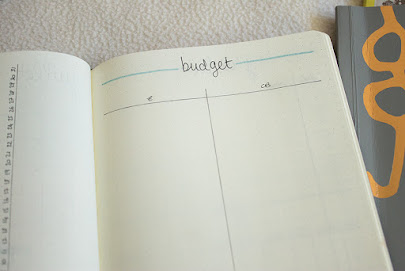 bullet journal juillet bujo monthly expense