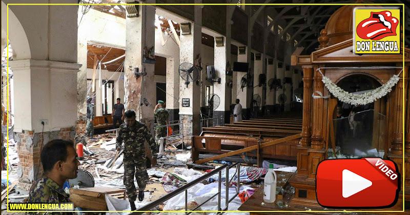 Centenas de muertos en explosiones en iglesias de Sri Lanka