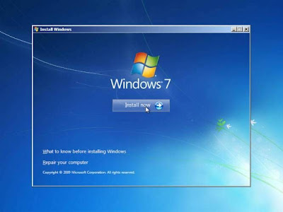 mulai install windows 7