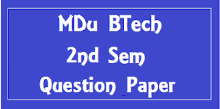 Mdu BTech 2nd Sem Question Papers 2018 (Common For all Branch)