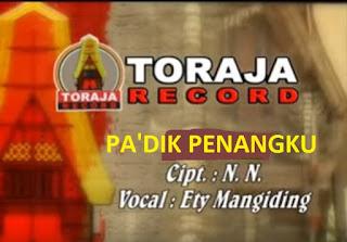 Lagu Toraja Pa'dik Penangku (Ety Mangiding)