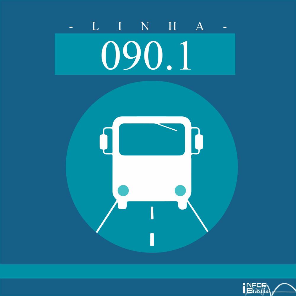Horário de ônibus e itinerário 090.1 -