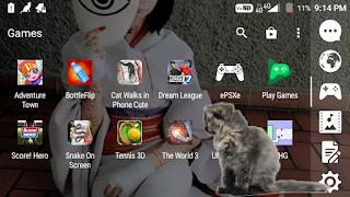 Cara agar gambar kucing manis di layar hp android