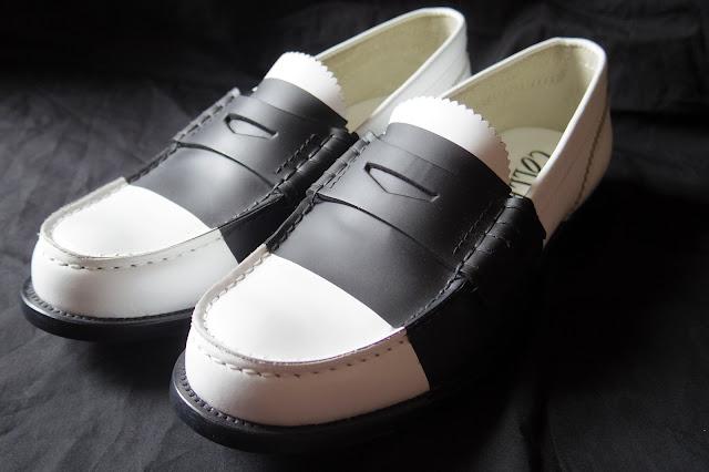 Collegeのバイカラー ローファー革靴