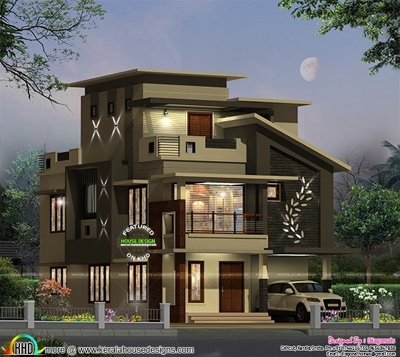 375 sq-yd contemporary house architecture
