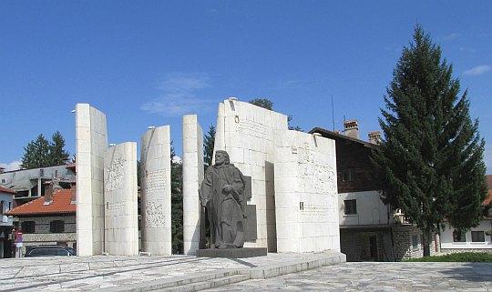 Monument poświęcony Paisjuszowi Chilendarskiemu.