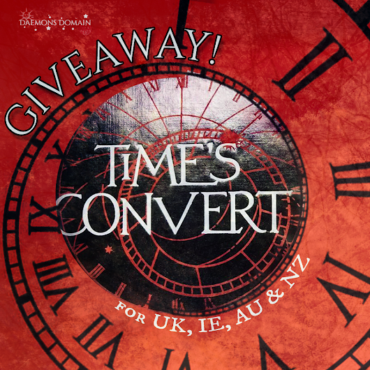 Time's Convert Hardback Proof! A Giveaway!