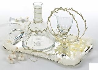 Set for Greek wedding olive theme