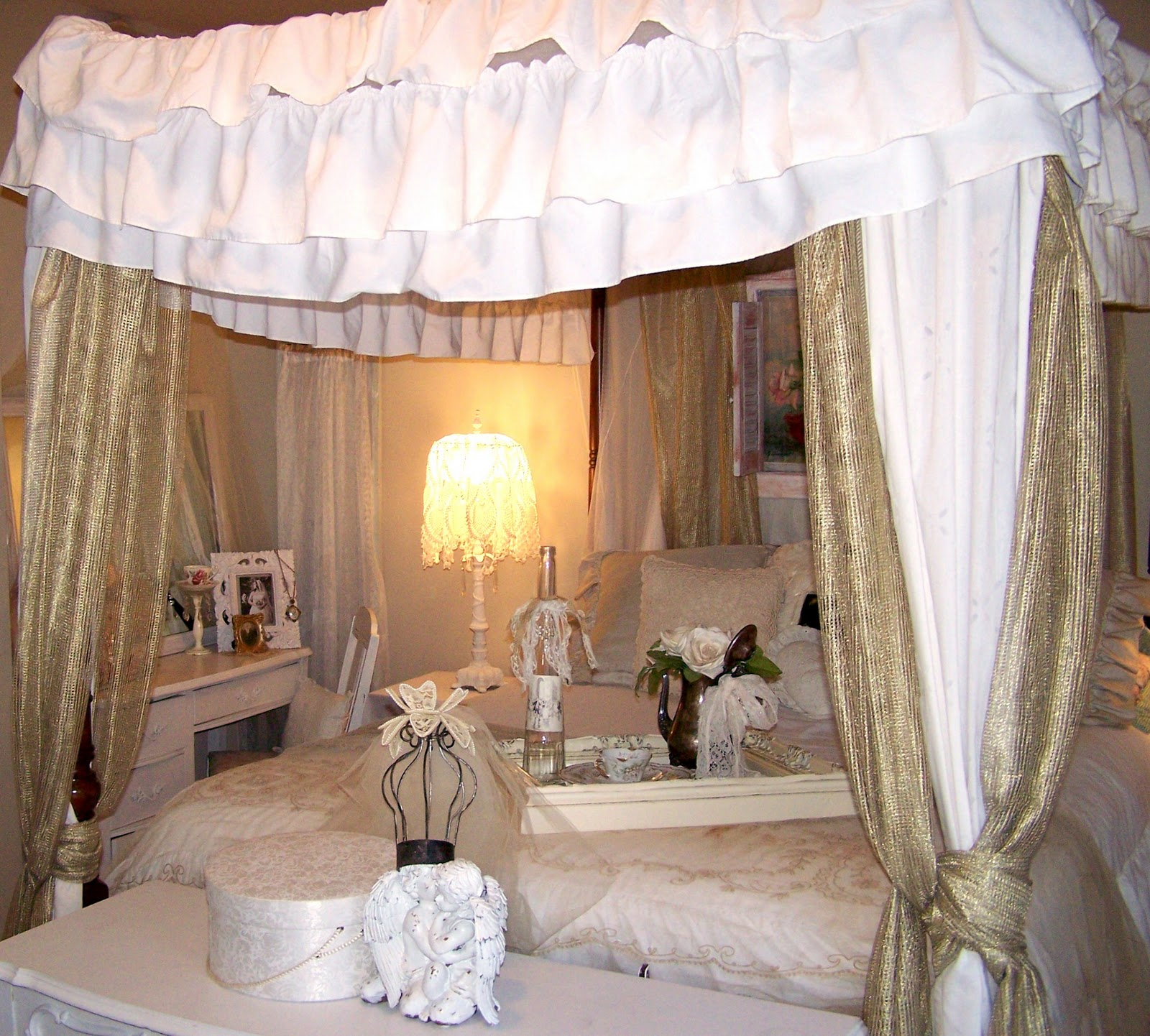 Shabby Chic Bedroom Before And After: Olivia's Romantic Home: Shabby Chic Bedroom Boudoir Update