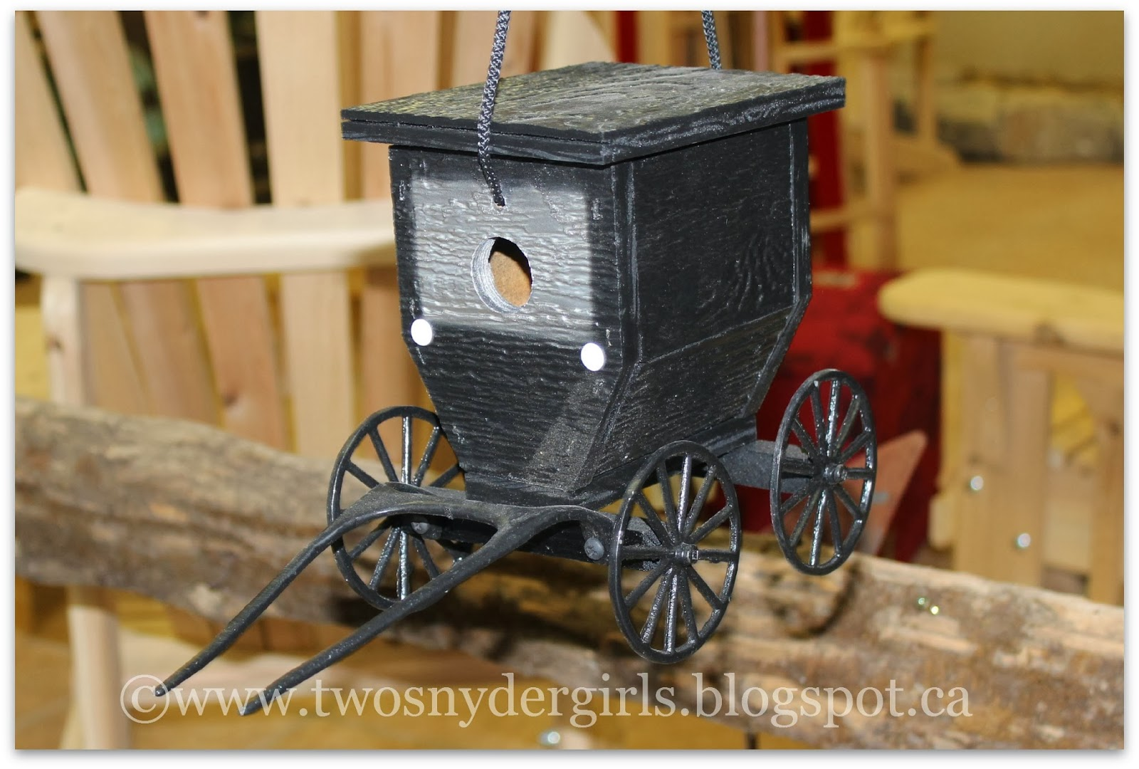 Mennonite Buggy Bird House