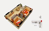 Thiết kế căn 17 tòa A chung cư Gemek Tower