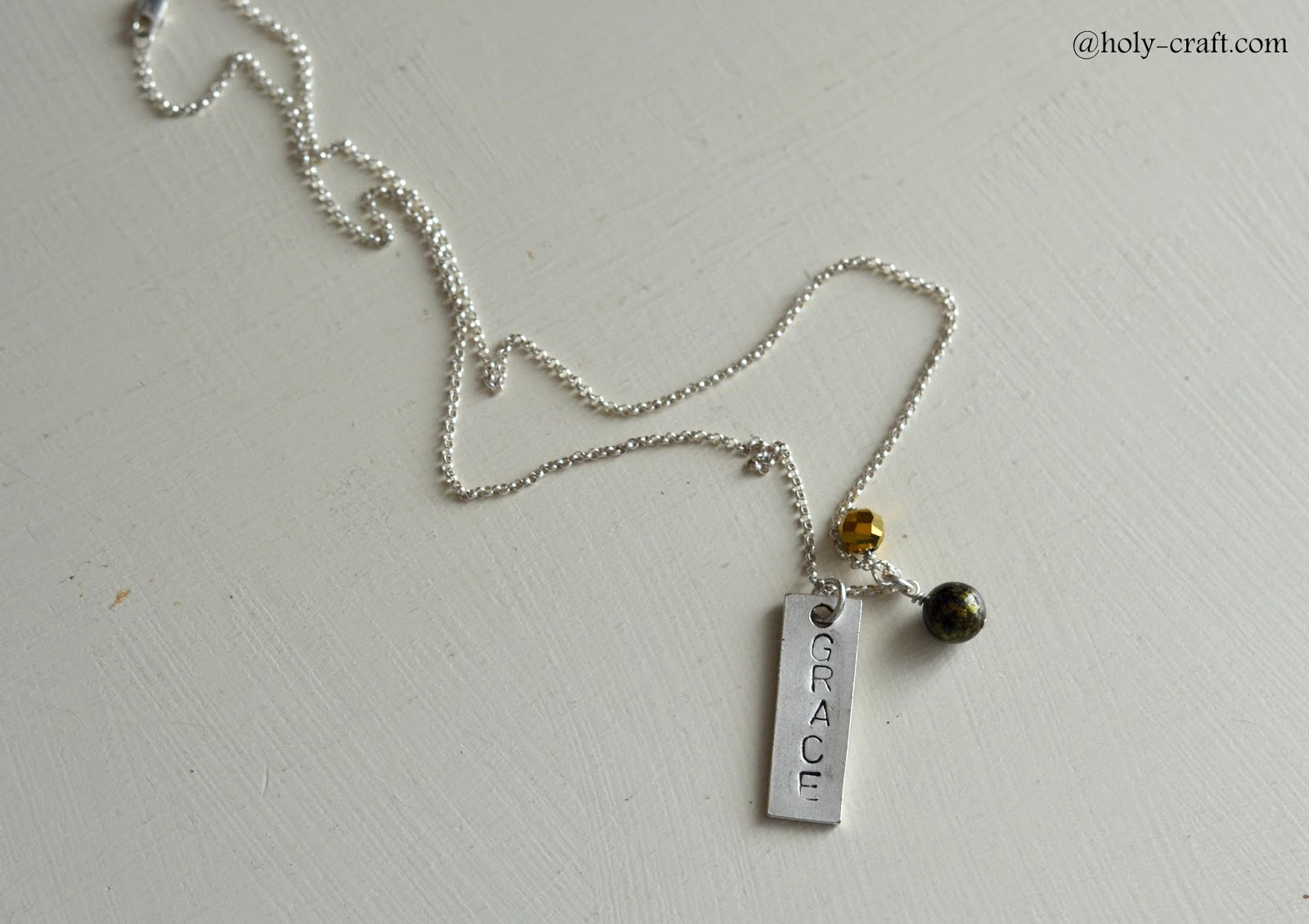 Easy to make hand stamped jewelry even a beginner can make for How do you make hand stamped jewelry