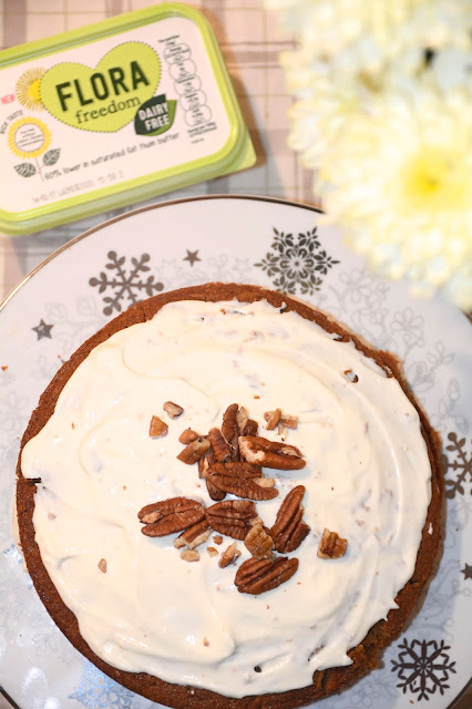 Healthier, dairy free carrot cake