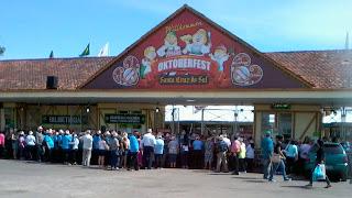 Parque da Oktoberfest, em Santa Cruz do Sul