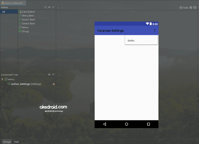 menu_main.xml Android Studio