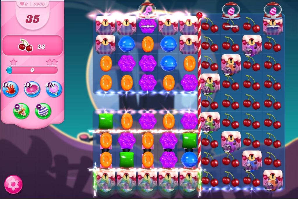 Candy Crush Saga level 5986