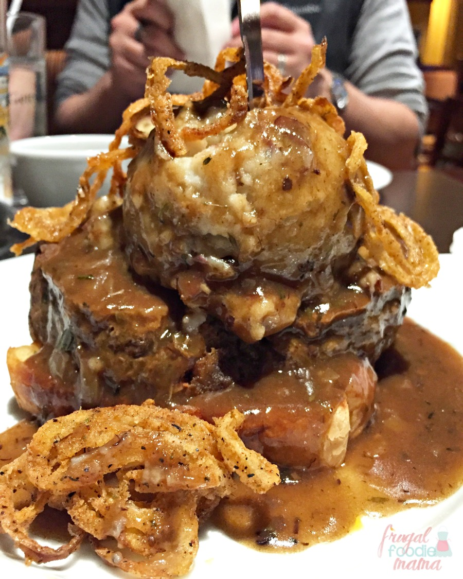 The Mile High Meatloaf From Alachian Brewing Company Is A Thick Slice Of Tender Angus Beef