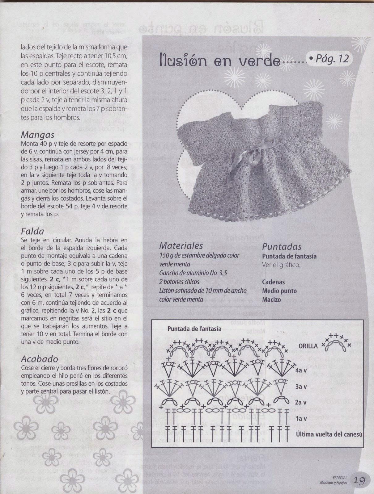 Como hacer vestiditos en crochet revista gratis - Revistas de ...