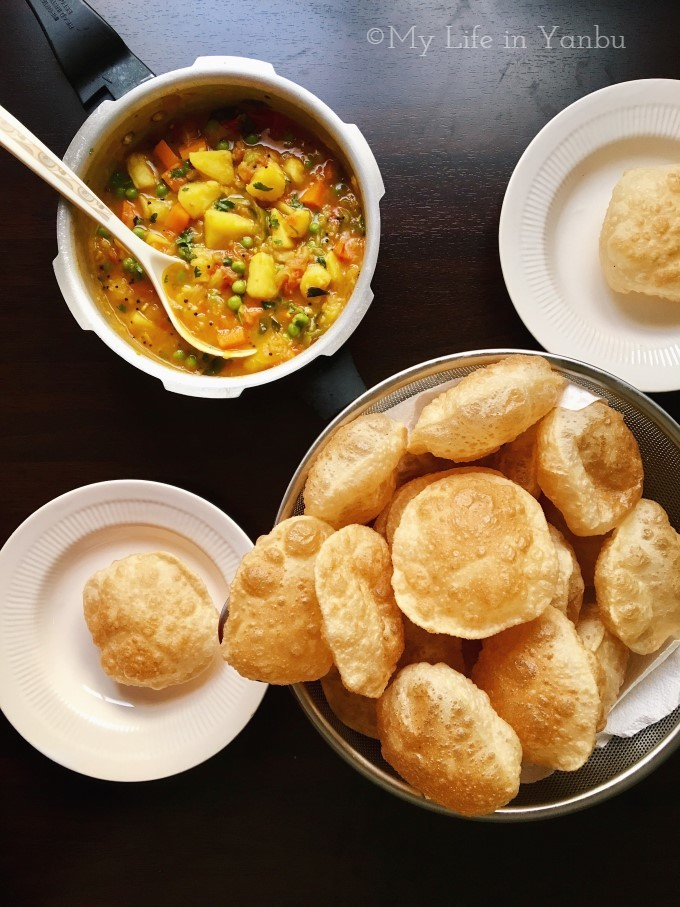 Luchi Poori | Deep Fried Puffed Indian Bread