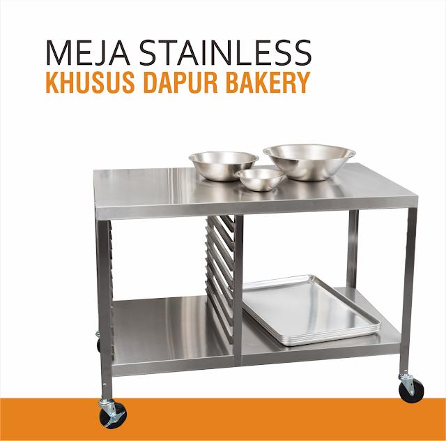 Meja Dapur Stainless untuk Bakery